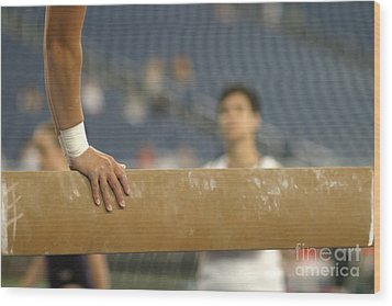 Wood Print featuring the photograph Student And Coach by Jim West