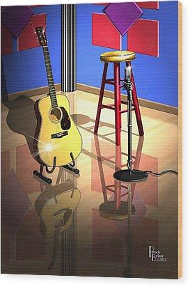 Studio Time Wood Print by Patrick Belote