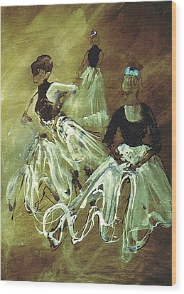 Study For Spanish Rehearsal Wood Print by Podi Lawrence