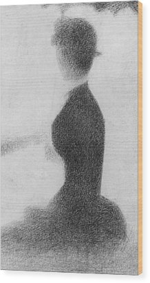 Study For Sunday Afternoon On The Island Of La Grande Jatte Wood Print by Georges Pierre Seurat