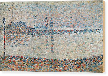 Study For The Channel At Gravelines Evening Wood Print by Georges Pierre Seurat