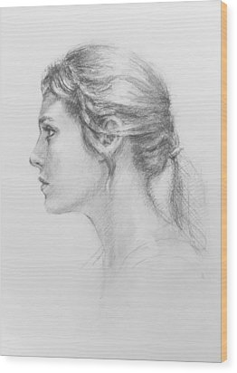 Study In Profile Wood Print by Sarah Parks