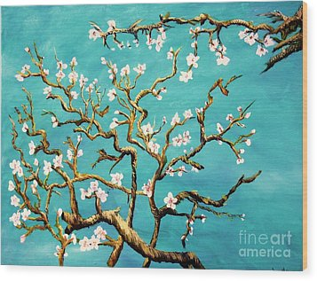 Study Of Almond Branches By Van Gogh Wood Print