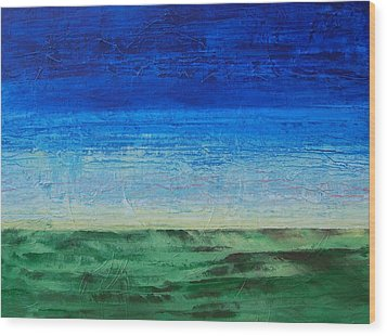 Wood Print featuring the painting Study Of Earth And Sky by Linda Bailey