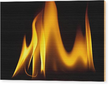 Study Of Flames I Wood Print by Patrick Boening