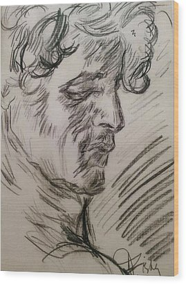 Study Of Richard Wood Print by Dawn Fisher