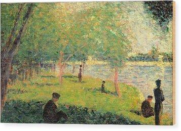 Study On La Grande Jatte Wood Print by Georges Seurat