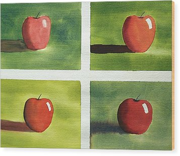 Wood Print featuring the painting Study Red And Green by Richard Faulkner