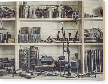 Stuff For Sale - Old General Store Wood Print by Gary Heller