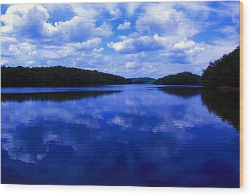 Wood Print featuring the photograph Stumpy Pond 04a by Andy Lawless
