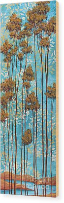 Stunning Abstract Landscape Elegant Trees Floating Dreams II By Megan Duncanson Wood Print by Megan Duncanson