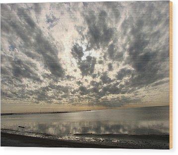 Wood Print featuring the photograph Stunning Coastal Sunrise by Linda Cox