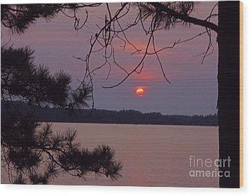 Sturgeon Lake Mn Sunset Wood Print