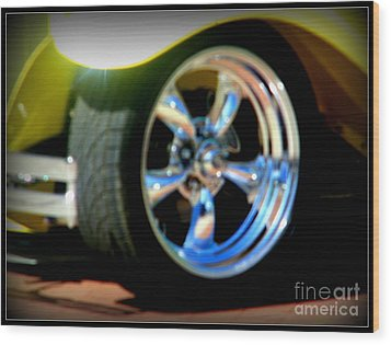 Wood Print featuring the photograph Stylin' Wheels by Bobbee Rickard