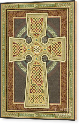Stylized Celtic Cross Wood Print