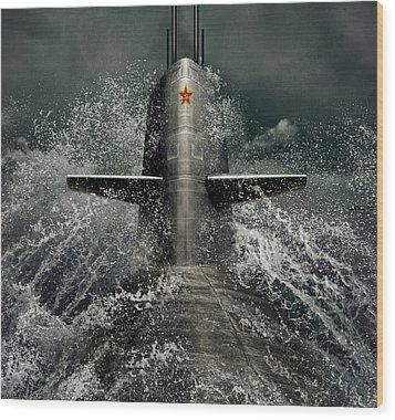 Submarine Wood Print