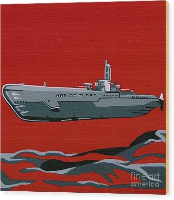 Submarine Sandwhich Wood Print by Slade Roberts