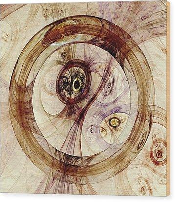 Subtle Ring Wood Print by Anastasiya Malakhova