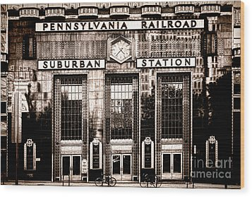 Suburban Station Wood Print by Olivier Le Queinec