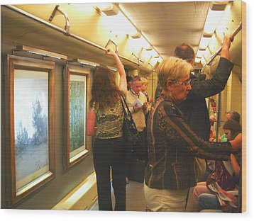 Wood Print featuring the photograph Subway Art by Julia Ivanovna Willhite