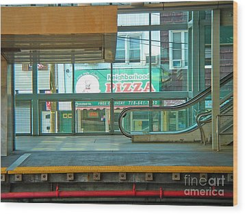 Subway Pizza Wood Print