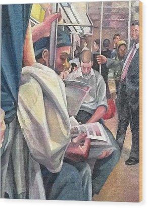 Subway Prelude Wood Print by Julie Orsini Shakher