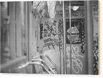 Wood Print featuring the photograph Subway by Steven Macanka