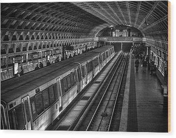 Subway Train Wood Print