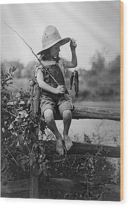 Successful Day Of Fishing  1919 Wood Print by Daniel Hagerman