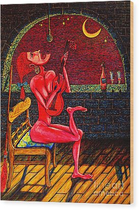 Succubus Wood Print by Viktor Lazarev