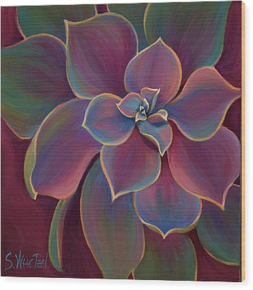 Succulent Delicacy Wood Print by Sandi Whetzel