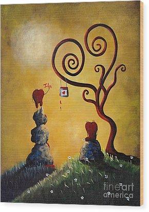 Such A Romantic By Shawna Erback Wood Print by Shawna Erback