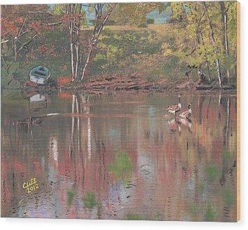 Sudbury River Wood Print