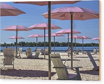 Sugar Beach Summer Wood Print by Nicky Jameson