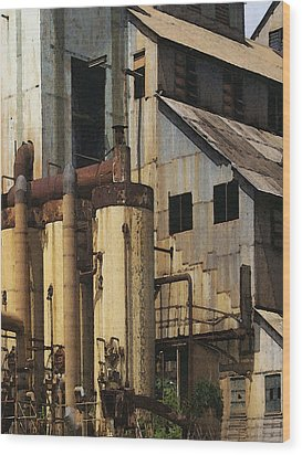 Sugar Factory Wood Print by David Hansen