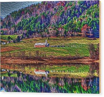 Sugar Grove Reflections 2 Wood Print by Tom Culver
