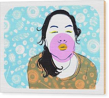Sugar Lips Wood Print by Vanessa Baladad