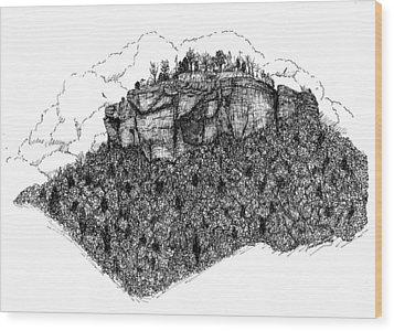 Sugar Loaf Mtn. Heber Springs Ar. Wood Print by Lee Halbrook