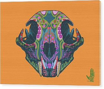 Sugar Lynx  Wood Print by Nelson dedos Garcia