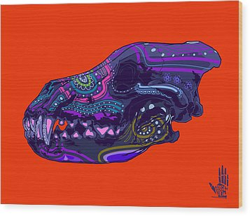 Sugar Wolf Wood Print by Nelson Dedos Garcia