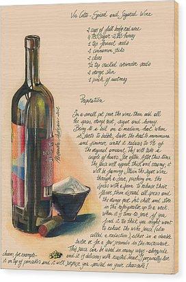 Sugared Wine Wood Print by Alessandra Andrisani