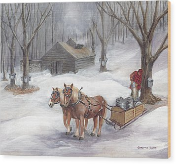 Sugaring Time Again Wood Print by Gregory Karas