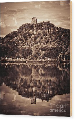 Wood Print featuring the photograph Sugarloaf Reflection by Kari Yearous