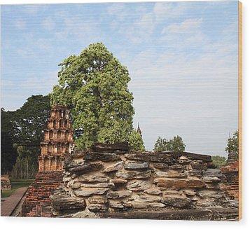 Sukhothai Historical Park - Sukhothai Thailand - 011311 Wood Print by DC Photographer