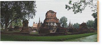 Sukhothai Historical Park - Sukhothai Thailand - 01132 Wood Print by DC Photographer