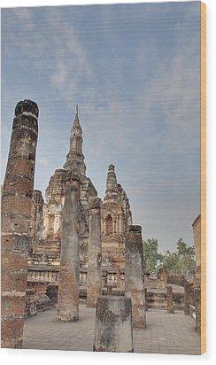 Sukhothai Historical Park - Sukhothai Thailand - 011324 Wood Print by DC Photographer