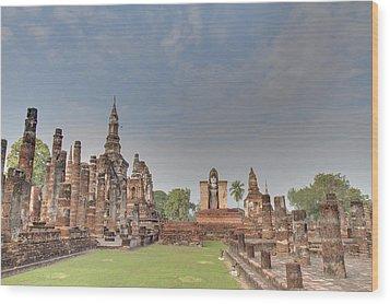 Sukhothai Historical Park - Sukhothai Thailand - 011329 Wood Print by DC Photographer