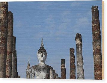 Sukhothai Historical Park - Sukhothai Thailand - 011338 Wood Print by DC Photographer