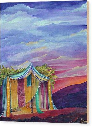 Sukkah Wood Print