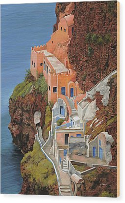 sul mare Greco Wood Print by Guido Borelli